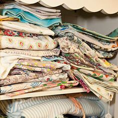Stock Up on Vintage Linens - Flea Market Shopping in Charlotte - Southernliving. Markets such as the ICA Shows are a great resource for vintage linens. Go ahead and pull them out and unfold them so you can really see the pattern and any wear and tear. Don't let small stains discourage you from buying. Take them to your local cleaners for spot removal. If all else fails, get creative! That tablecloth could become a table runner.Look out for Judith Greason in Tent 2 for vintage chenille…