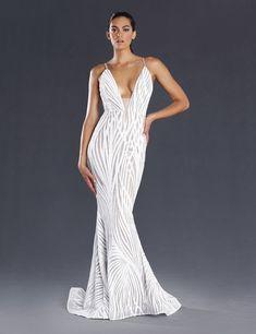 Jadore – jx098 White Sequin Gown