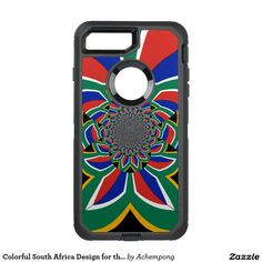 Colorful South Africa Design for the Apple iPhone #OtterBox Defender iPhone 7 Plus #Case