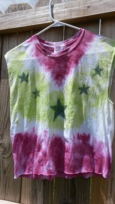 Stars Cropped TieDye Shirt by MessyMommasTieDyes on Etsy, $11.00