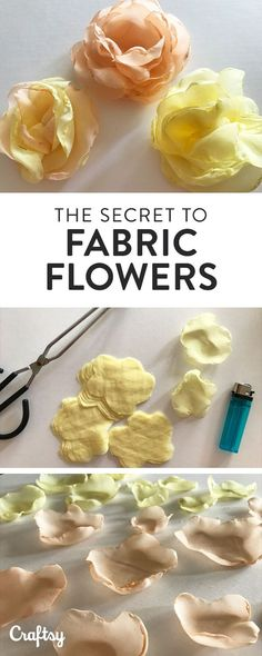 An easy, six-step tutorial to help you learn to make beautiful fabric flowers for your garments, accessories, home or wedding project!
