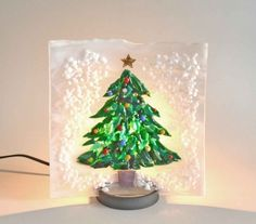 灯り 雪景色のツリー - にしじんおとめ