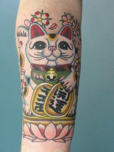 Apr 19 Lucky Cat Japan Tattoo Tattoos Japanese