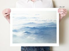 Seen during a journey from Tokyo to Sapporo, these misty blue mountains of Honshu reminded me of ancient Japanese woodblock prints and