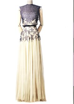 Madeleine Vionnet Navy and White Dress with Star Embellishments c. 1930s?