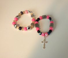Beaded Bracelet Set Featuring a Dangle Cross by StaceysShoppe, $12.00