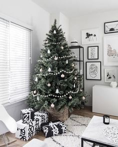 our favorite 2016 festive decor under 100 theeverygirl minimal christmas christmas tree simple - Simple But Elegant Christmas Tree Decorations