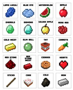 Free Minecraft candy bag PDF.