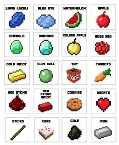 Free Minecraft candy bag PDF.