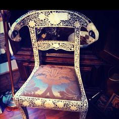 Ivory antique chair #antiquing