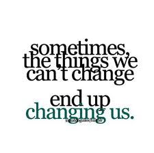 unchangeable past leads to an everchanging future. a new you