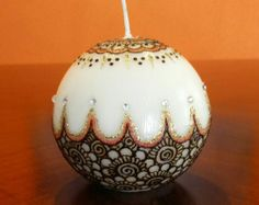 Handcrafted Dreamcatcher Henna Candle / Henna by ShadesOfArts