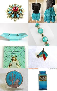 Teal with a Splash of Red!