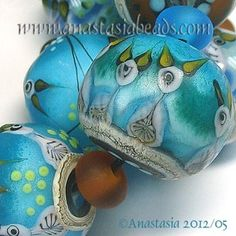 "ANASTASIA--lampwork beads--(7)--""FEED ME!""--SRA"