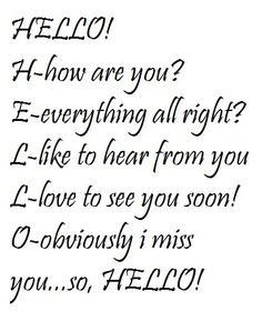 Hello pictures and quotes | hello quotes photo: HELLO HELLO.jpg
