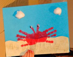 Handprint Crab Activity for Preschooler