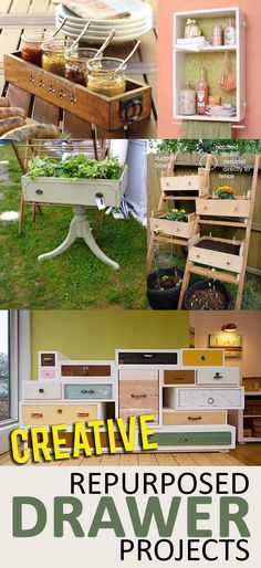 Recycled drawer projects, things to do with old drawers, popular pin, recycling projects, repurposing DIYs, DIY projects, DIY home improvement, DIY outdoor projects.