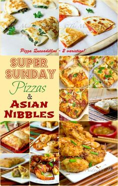Super Sunday Pizza & Asian Snacks | bakeatmidnite.com | #superbowl #pizza #asian #appetizers