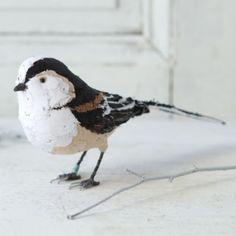 Terrain Hand-Stitched Bird in White, by Abigail Brown #shopterrain