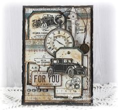 My Little Craft Things: Pion Design - Vintage Cars for Him with video