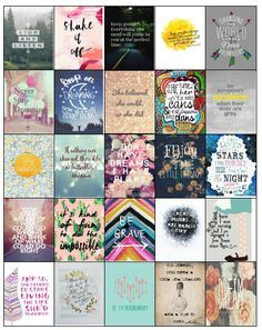 INSPIRATIONAL STICKERS PERFECT FOR YOUR ERIN CONDREN LIFE PLANNER, PLUM PAPER…