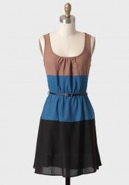 sydney travels colorblocked dress in mocha