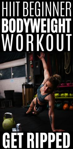 The most ultimate HIIT bodyweight workout for beginners to get fit and shred fat fast! Want to get in shape fast? Then try these sorts of home bodyweight workouts! Body Weight Hiit Workout, Hiit Workout At Home, At Home Workouts, Workout Diet, Cardio Workouts, Workout Gear, Hiit For Beginners, Shred Fat