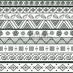 Main ray tribal tir sans soudure motif g om trique noir blanc fond Nuancier de seamless incluses dan Banque d'images
