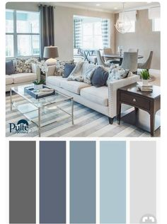 Best Living Room Color Schemes Idea [To Date] Summer colors and decor inspired by coastal living. Create a beachy yet sophisticated living space by mixing dusty blues, whites and grays into your color palette. Coastal Living Rooms, Room Colors, Interior Design, Living Room Colors, Home Living Room, Living Room Color Schemes, Home, Living Room Grey, Home Decor