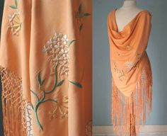 Antique Vintage Embroidered Piano Shawl 20s by VioletsAtticVintage, £175.00