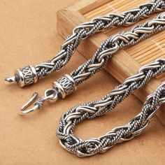 7 mm Men's Sterling Silver Rope Chain - Jewelry1000.com