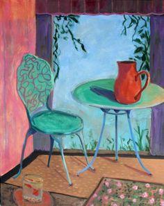 goldfish-with-blue-table-and-chair--after-matisse-deborah-bertola.jpg (556×700)