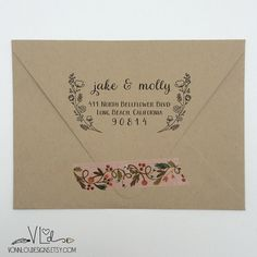 // custom designed, wood-mounted rubber stamp // + perfect addition to any household… whether using your stamp for wedding invitations, save the