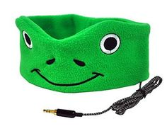 CozyPhones Kids Headphones Volume Limited with Ultra-Thin Speakers & Super Comfortable Soft Fleece Headband - Perfect Children's Earphones for Home and Travel - GREEN FROGGY Toddler Travel, Travel With Kids, Sleep Headphones, Wireless Headphones, Kids Headbands, Clothing Items, Toddler Girl, The Help, Boy Or Girl
