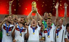 Congratulations Germany. World Cup champions 2014. Deutschland uber alles. 14.07.14