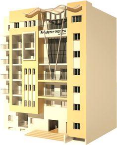 La résidence Narjess de Diar Chermiti située à cité sahloul de la ville de Sousse. Une résidence moderne et chic qui se compose de vingt-trois appartements Haut Standing S1, S+2, S+3 et Duplex, répartis sur cinq étages.
