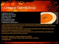 creamy carrot soup #recipe www.neverstopfitness.com