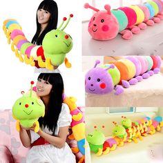 "Great 19.68"" Colorful Inchworm Soft Colorful Inchworm Soft Lovely Babys Toys   <em>диванная подушка «Гусеница»</em> eBay"
