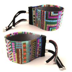 super colourful beaded cuff, $165 by Julie Rofman