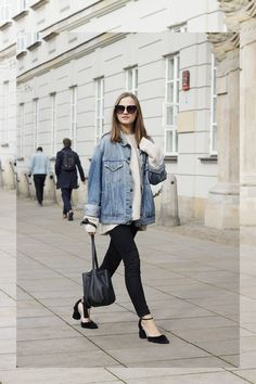 Denim jacket - Levi's, Sweater - Zara, Pants - Lee, Bag - Chylak, Shoes - Nunc, Sunglasses - Zara