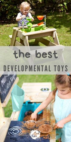 Playing isn't just fun; it also stretches your kids' imagination and teaches them about the world around them. These developmental outdoor toys for toddlers are ideal for encouraging learning. Backyard Games Kids, Games For Kids, Toddler Toys, Baby Toys, Outdoor Toys For Toddlers, Messy Play, Developmental Toys, Play Ideas, Creative Play