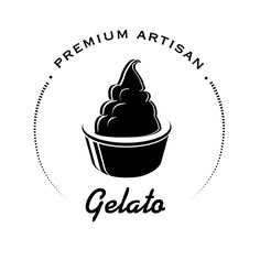 Premium Artisan Gelato logo created to be genuine, unique and tasty.