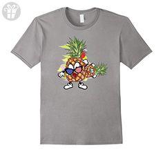 Mens Funny Pineapple Glasses T-Shirt  Medium Slate - Funny shirts (*Amazon Partner-Link)