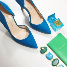 """Cerulean Suede D'orsay Pumps Details: • Size 7 • Suede  • 4"""" heels • Brand new in box   01211621 Jessica Simpson Shoes Heels"""