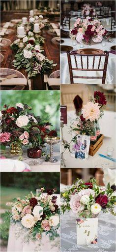burgundy and blush wedding bouquet ideas #weddingbouquets #weddingflowers #weddingcolors