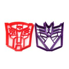 Transformers Autobot and Decepticon SANDWICH Cutter Set