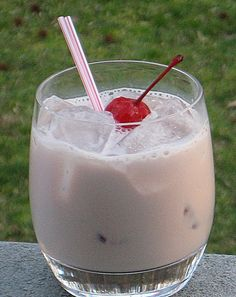 BFF (1 oz. Bailey's Irish Cream 1 oz. Raspberry Liqueur 1 oz. Hazelnut Liqueur 2 oz. Half & Half Cherry for garnish)