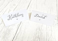 Wedding Place Settings, Wedding Place Cards, Card Table Wedding, Table Cards, Handmade Wedding, Table Settings, My Etsy Shop, Place Card Holders, Names
