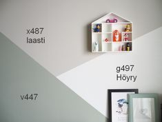tikkurila Hemnes, Kidsroom, Wall Colors, Kids Bedroom, Floating Shelves, How To Look Better, Photo Wall, Blog, House