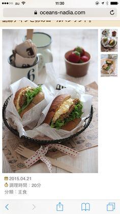 チキンフライのサンドイッチ